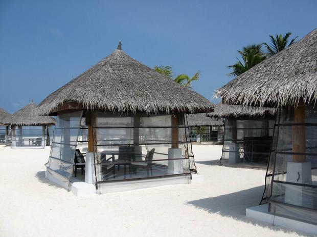沙滩上的餐厅