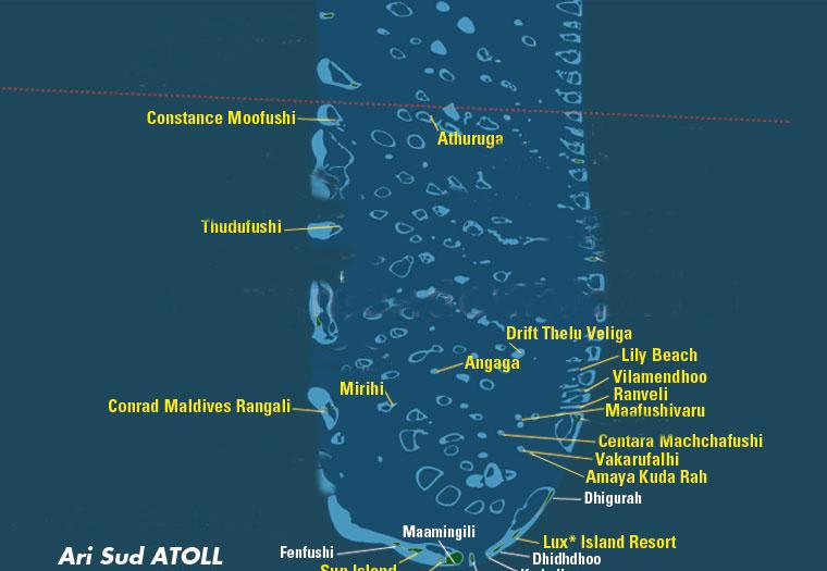 Atollo di Ari sud, Maldive