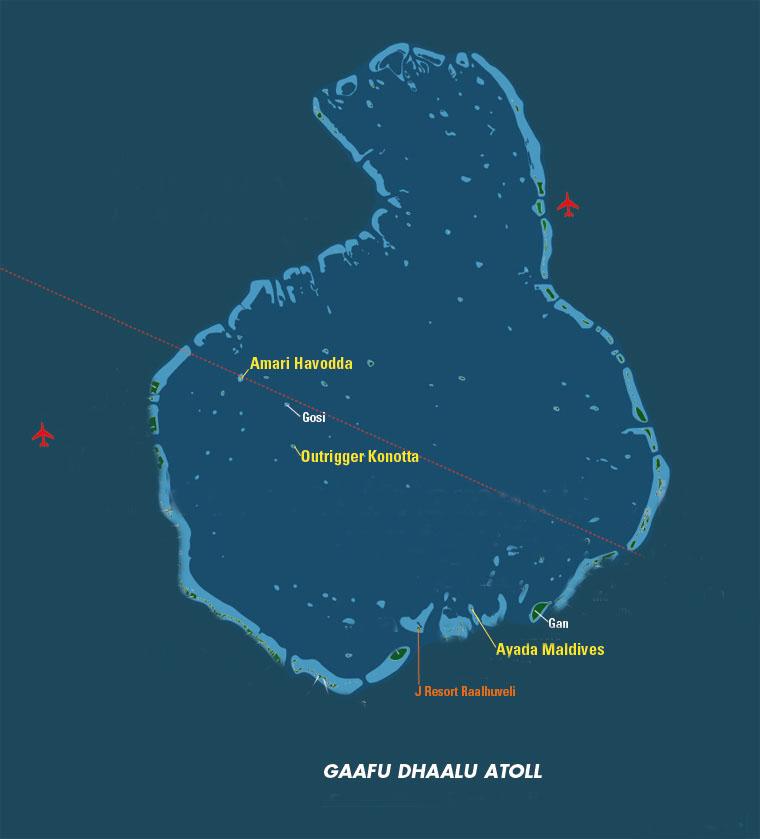 Atollo di Gaafu Dhaalu, Maldive