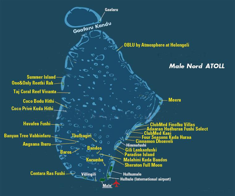 Atollo di Male nord, Maldive
